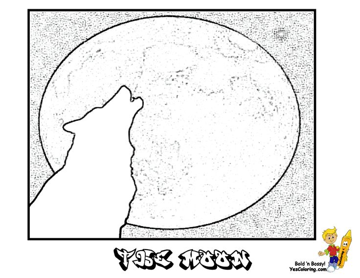 1000+ images about The Moon Coloring Pages on Pinterest
