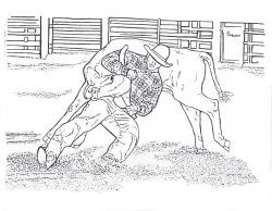 Free Printable Rodeo Coloring Pages Bull Riding, Barrel
