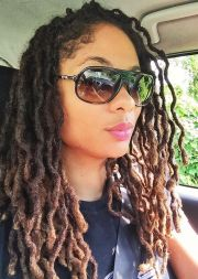 dyed crimped locs #naturalhair