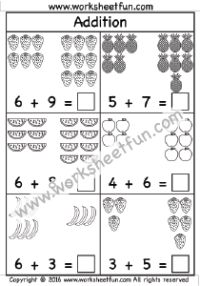 1000+ ideas about Addition Worksheets on Pinterest