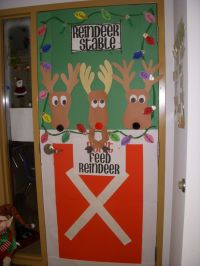 christmas door...i'm doing this one! =) | For the ...