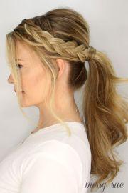 ideas braided ponytail