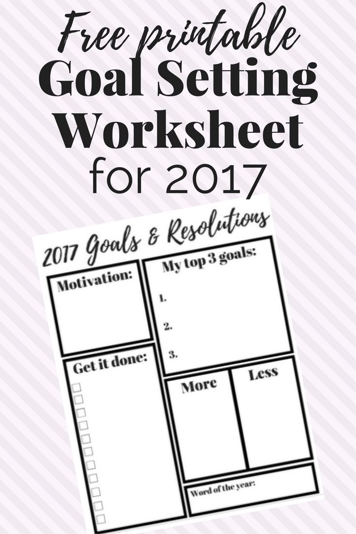 25+ best ideas about Goal setting worksheet on Pinterest