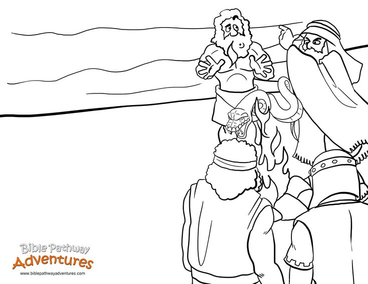 A coloring page for kids from the story, Shipwrecked. Paul