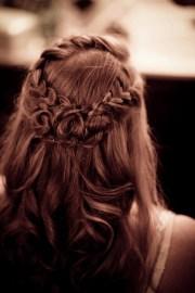 wedding bride's hair design