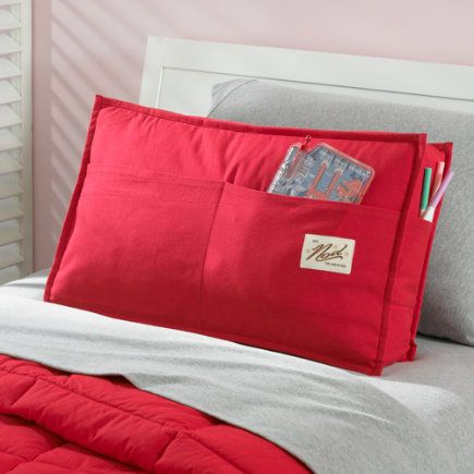 Kids Red Study Lean Back Pocket Pillows  Kids Pillows