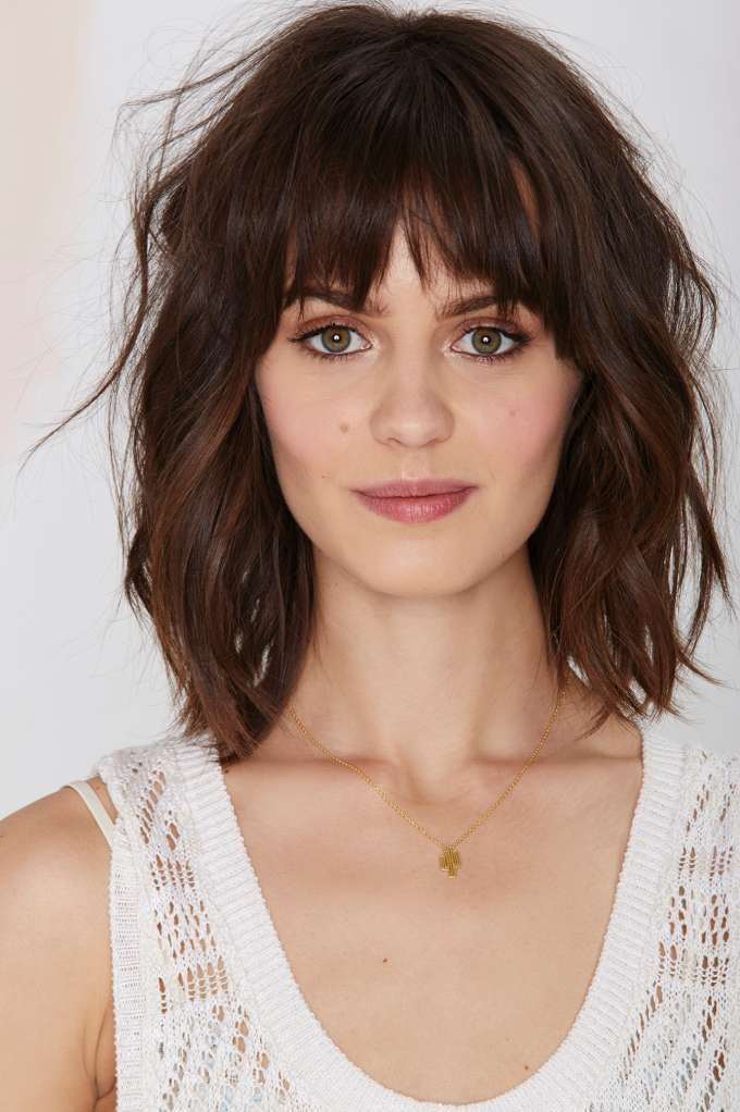 25 Best Ideas About Full Fringe Hairstyles On Pinterest Rose