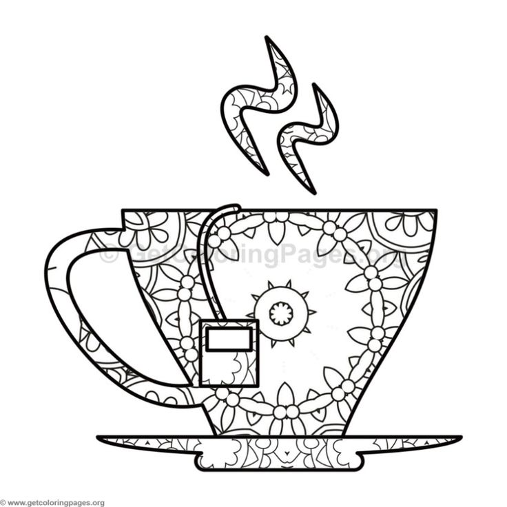426 best Coffee + Tea Coloring Pages for Adults images on