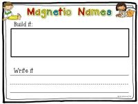 Number Names Worksheets  Kindergarten Name Writing