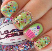 birthday nail design
