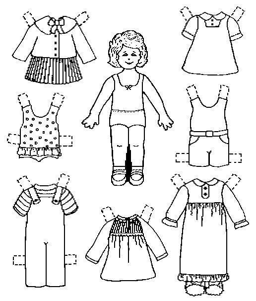 17 Best images about Color Your Own Paperdolls on