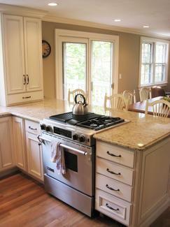 cooktop on peninsula  Google Search  Kitchen  Pinterest