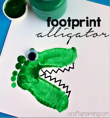 alligator craft for preschool