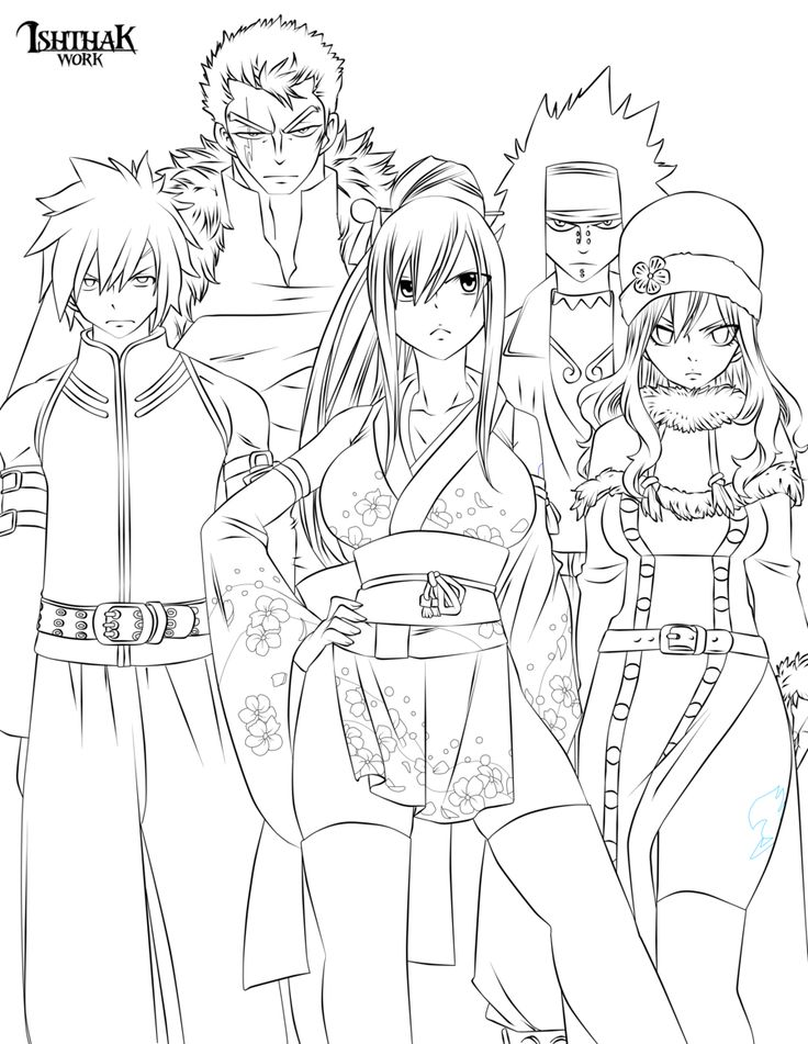 48 best images about fairy tail coloring pages on Pinterest
