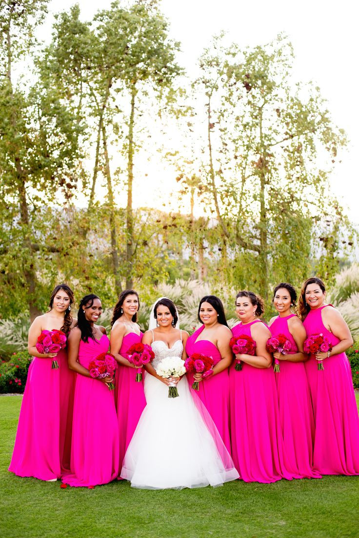 17 Best ideas about Magenta Bridesmaid Dresses on