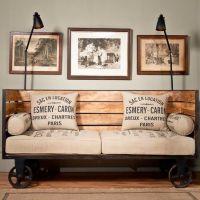 industrial chic vintage trolley sofa on wheels Vintage ...