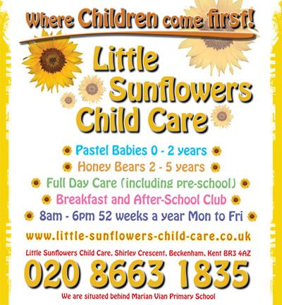 Little Sunflower Child Care  Advertising Examples At