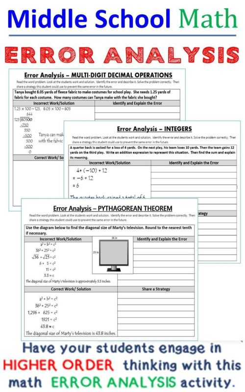small resolution of 33 Error Analysis Math Worksheet - Free Worksheet Spreadsheet