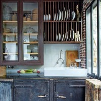 Rustic industrial kitchen. Love.   Home: Kitchen & Dining ...