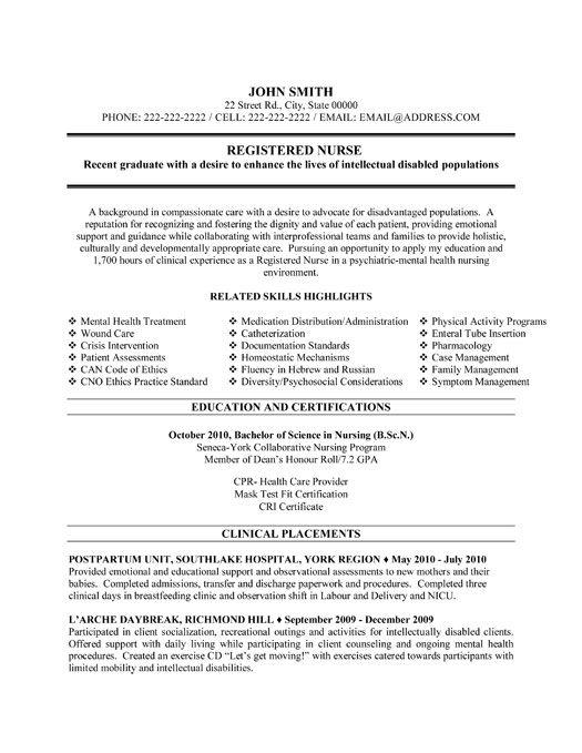 psych nurse resume template