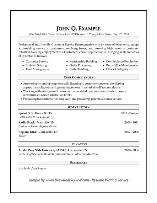 Professional Executive & Military Resume Samples By Drew