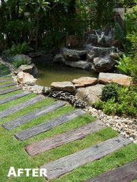 garden steps using wooden sleepers - Google Search ...