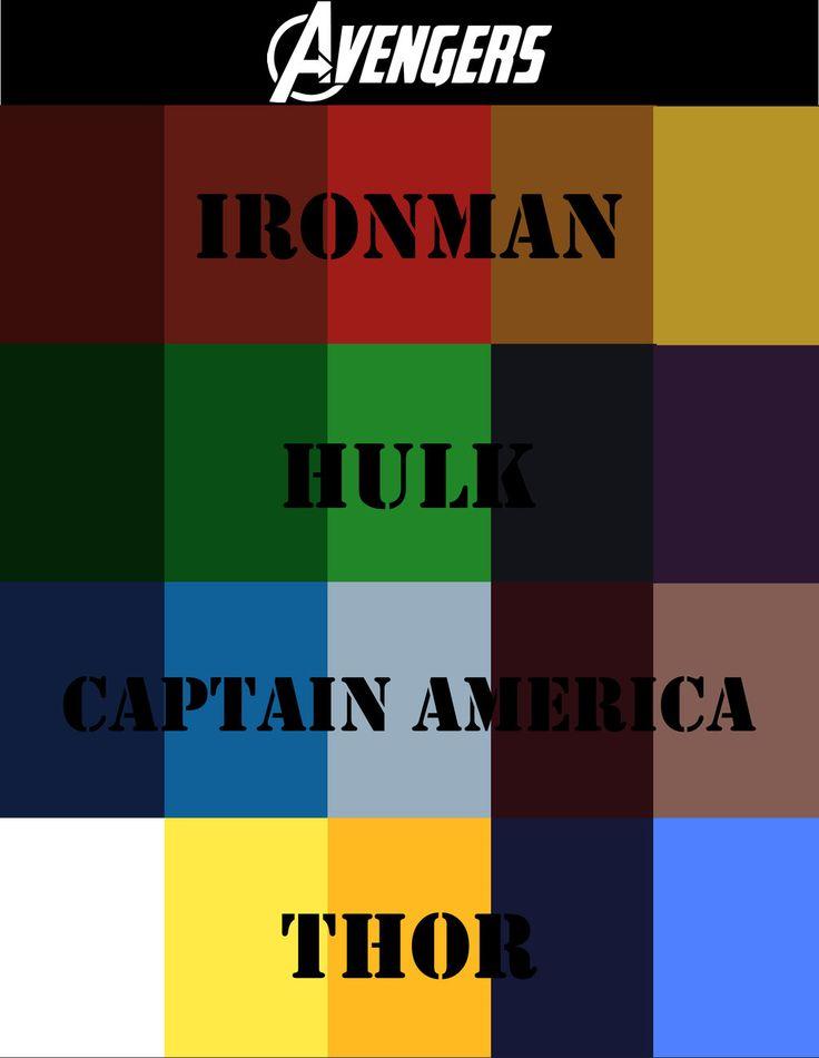 best color schemes for living room gaming pc 2018 avengers+color+scheme+by+briandnz.deviantart.com+on+ ...