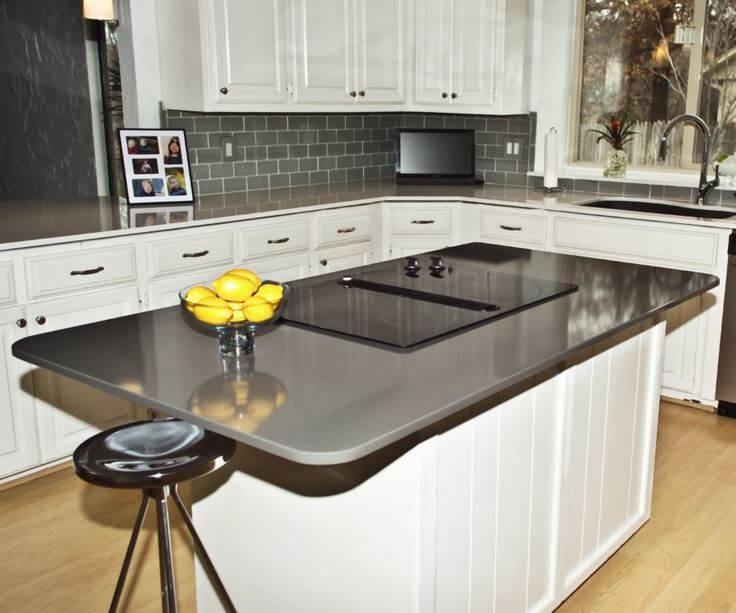 best quality kitchen cabinets turquoise aid mixer island countertop: silestone cemento | install photos ...