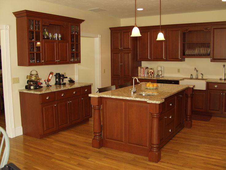 KitchenQuartz Countertops With Oak Cabinets Cabinets With