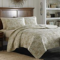 Tommy Bahama Hanalie Hibiscus Neutral Quilt   bedding ...
