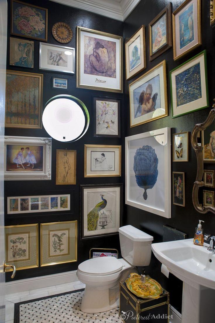 Best 25+ Black Powder Room ideas on Pinterest