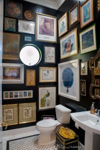 Best 25+ Black Powder Room ideas on Pinterest | Black ...