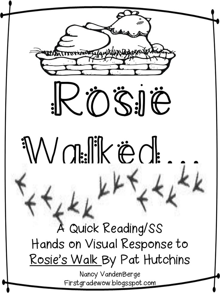 17 Best images about Rosie's Walk Positional Words on