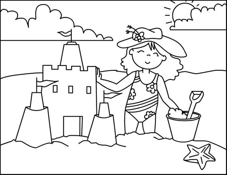 Beach Sandcastle coloring page It's a Beach Sandcastle