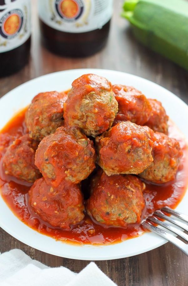 Baked Turkey Zucchini Meatballs Recipe Homemade