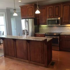 Cream Kitchen Cabinet Ideas Moen Pull Out Faucet Lipstick Make Over. With Brown Fantasy Granite And ...