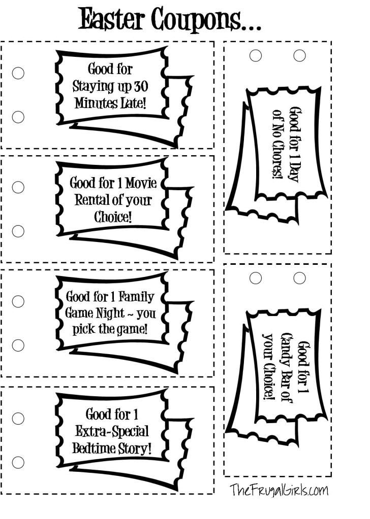 DIY Coupon Book For Kids. Examples of coupons include: one