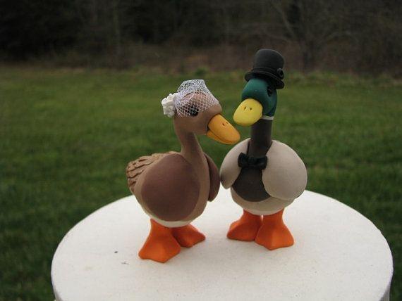 custom Mallard Duck wedding cake topper by theaircastle on Etsy  Wedding ideas  Pinterest