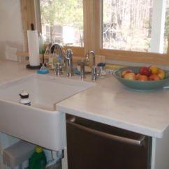 Upper Kitchen Cabinets Aid Professional 600 Corian Rain Cloud Countertops - Looks Like Marble ...