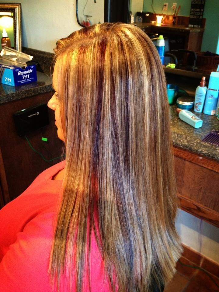 Red Lowlights In Blonde Hair Strawberry Blonde Hair With