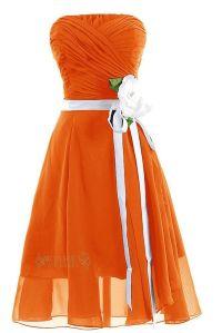 Brown Blue Orange Bridesmaid Dresses Pictures - Wedding ...