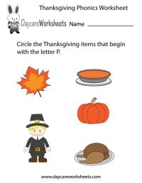 17 Best images about Preschool Thanksgiving Worksheets and ...