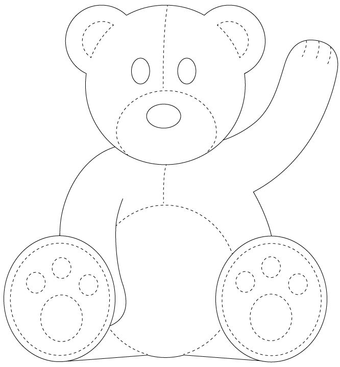 Best 25+ Teddy bear template ideas on Pinterest