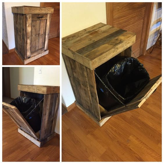 17 Best ideas about Trash Can Cabinet on Pinterest