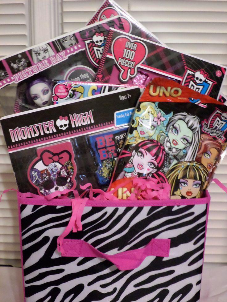 Monster High Basket  Gift Ideas for Children  Pinterest