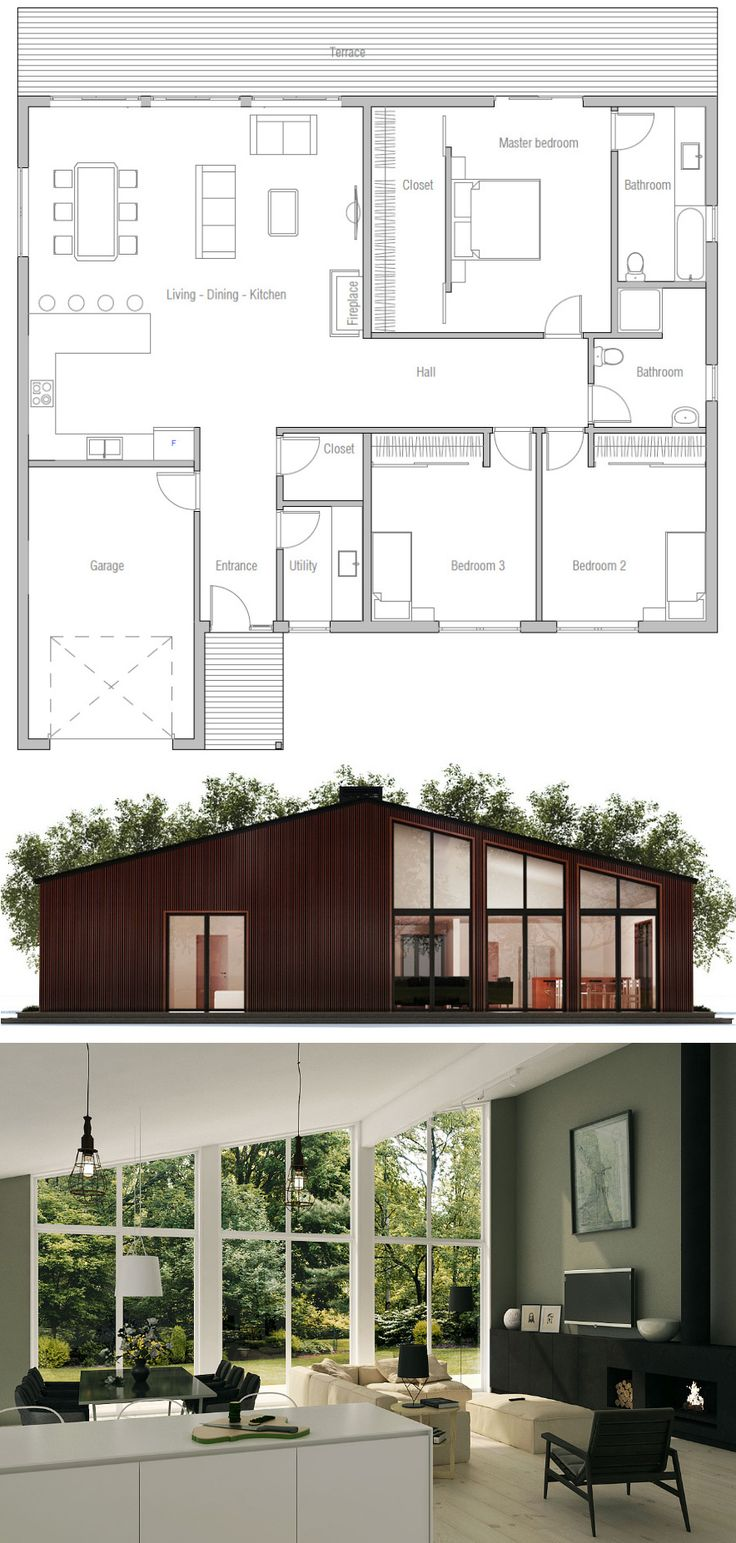 25 best Modern home plans ideas on Pinterest