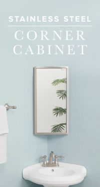 25+ best ideas about Corner medicine cabinet on Pinterest