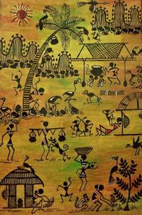 633 best images about warli on Pinterest | Peacocks, Folk ...