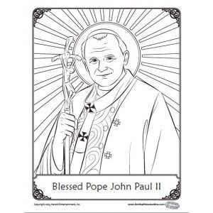 Coloring pages, Pope john paul ii and Coloring on Pinterest