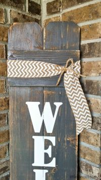 Best 25+ Wooden welcome signs ideas only on Pinterest ...
